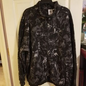 Adidas Men's Fleece Camo Full Zip Jacket size XL